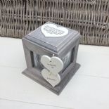 Shabby Chic PERSONALISED Rustic Wood In Memory Of GRANDMA Or ANY NAME Photo Cube